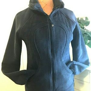 DARK BLUE HEAVY LULULEMON ZIP UP LIKE SCUBA 12